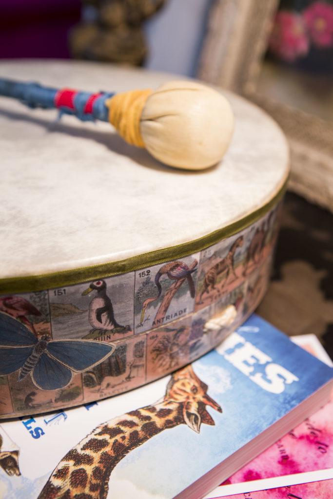 My Trusty Decoupaged Drum